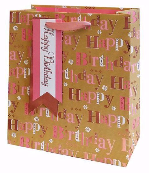Picture of Pink Happy Birthday Bag Medium