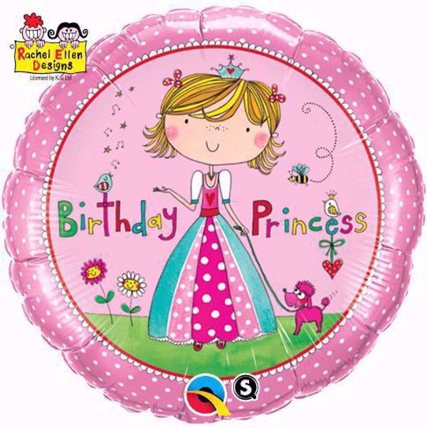 Picture of Folienballon Birthday Princess
