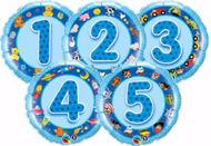Bild von Folienballon Alter 4 blau
