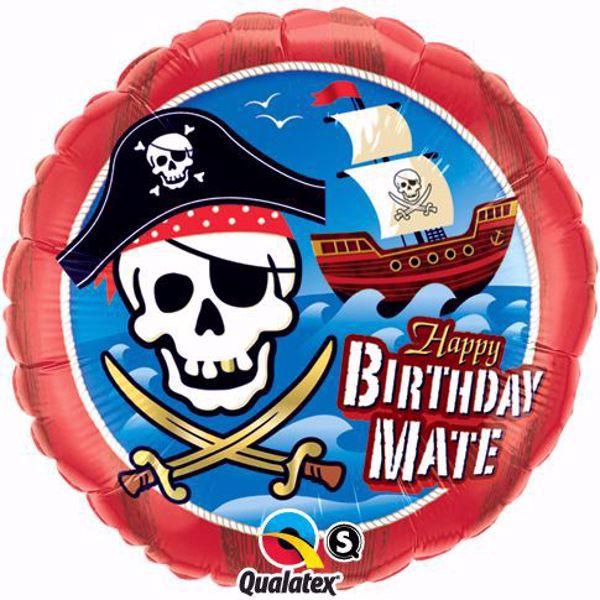 Bild von Folienballon Happy Birthday Piratenschiff