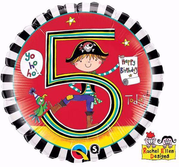 Picture of Folienballon Alter 5 Pirat