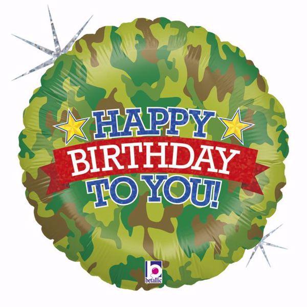 Picture of Folienballon Happy Birthday Camouflage