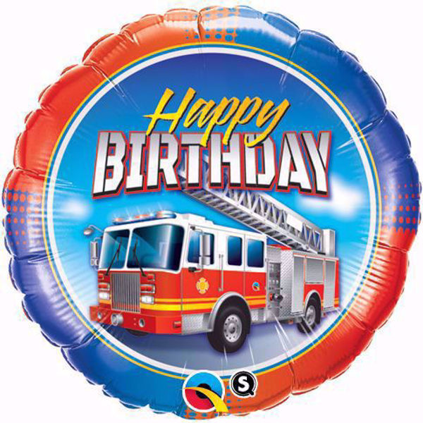 Picture of Folienballon Happy Birthday Fire Truck