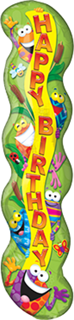 Picture of Folienballon Happy Birthday Frog-tastic