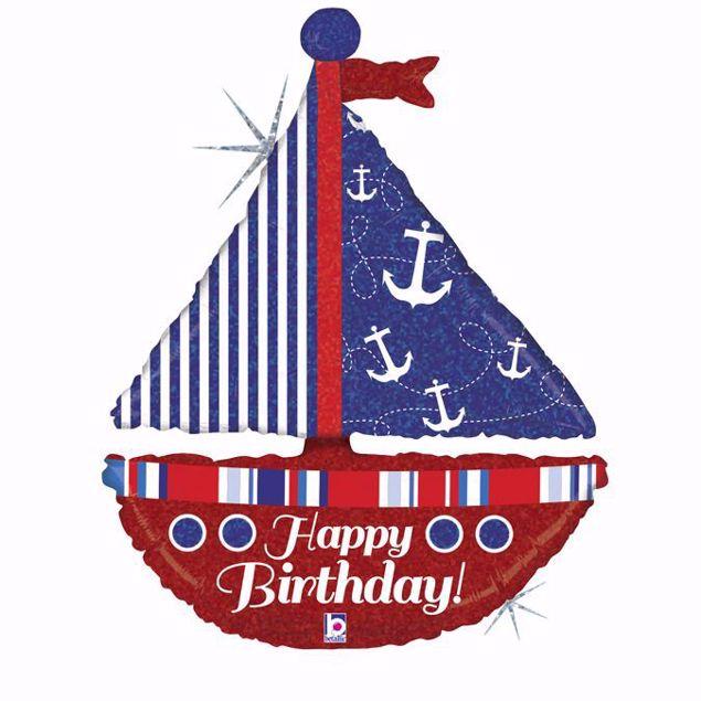 Picture of Shape Segelboot Nautical Birthday