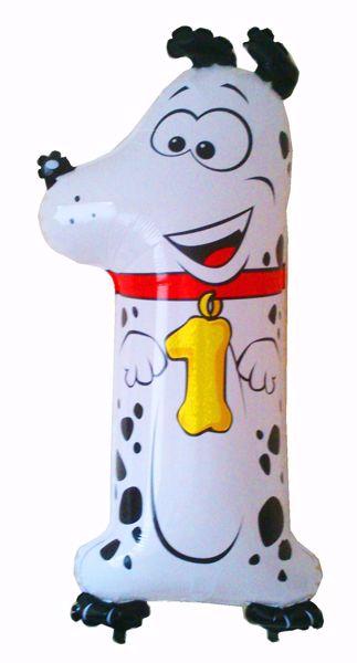 "Bild von Folienballon Animaloons ""1"" Dalmatiner"