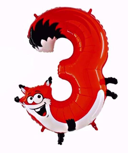 """Bild von Folienballon Animaloons """"3"""" Fuchs"""