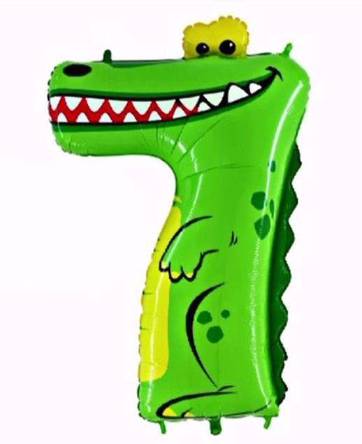 """Bild von Folienballon Animaloons """"7"""" Krokodil"""