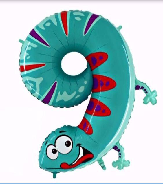 """Bild von Folienballon Animaloons """"9"""" Gecko"""