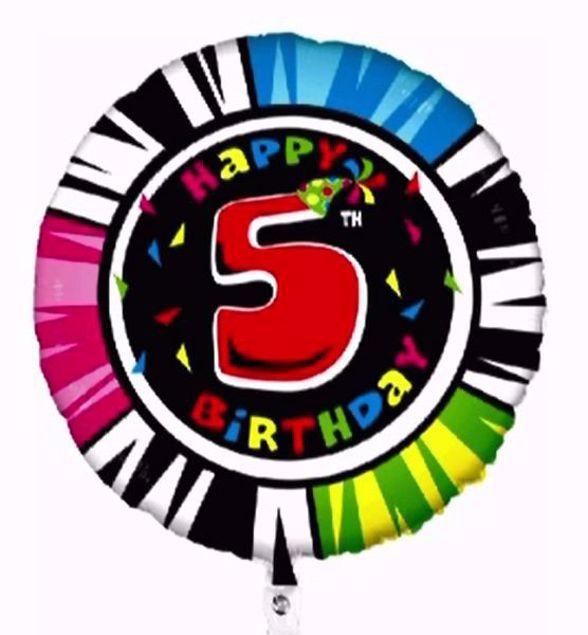 """Bild von Folienballon Animaloons """"5"""""""