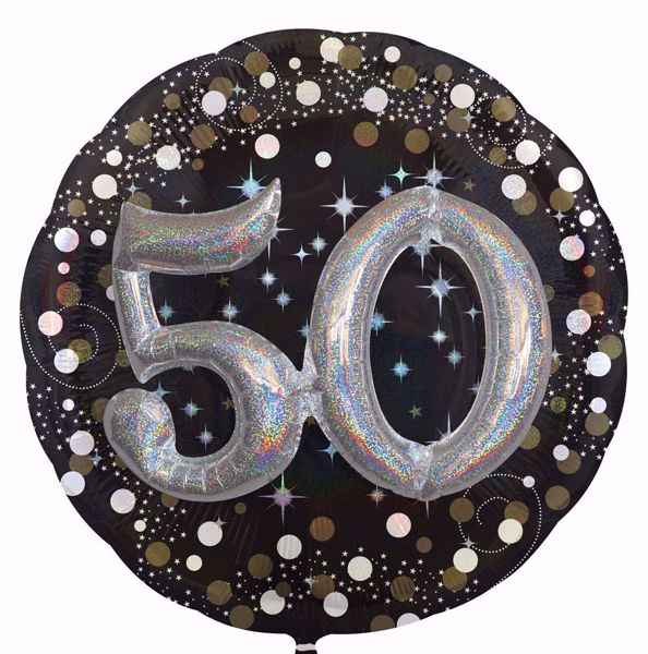 Picture of Folienballon Multi-Balloon Sparkling Birthday 50