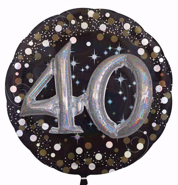 Bild von Folienballon Multi-Balloon Sparkling Birthday 40