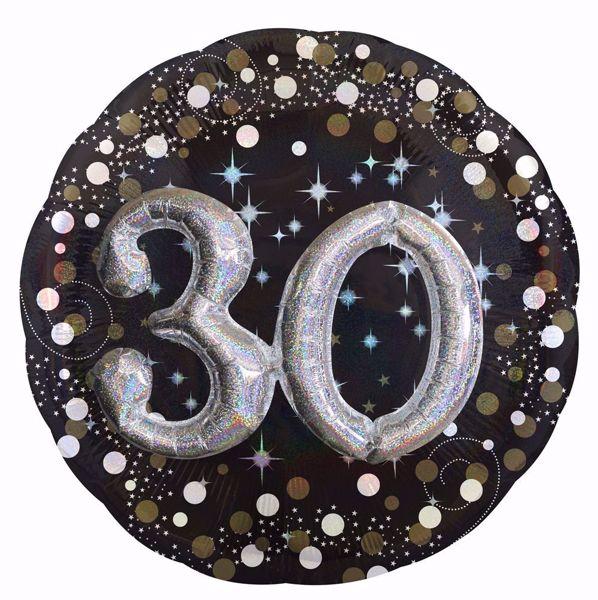 Bild von Folienballon Multi-Balloon Sparkling Birthday 30
