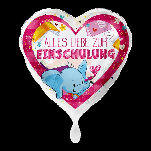 """Bild von Folienballon """"Alles Liebe zur Einschulung"""" Pink"""