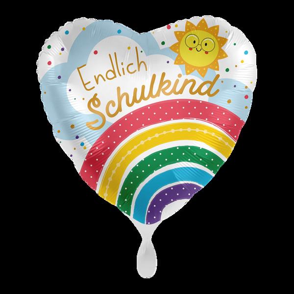 "Picture of Folienballon ""Endlich Schulkind"" Regenbogen"