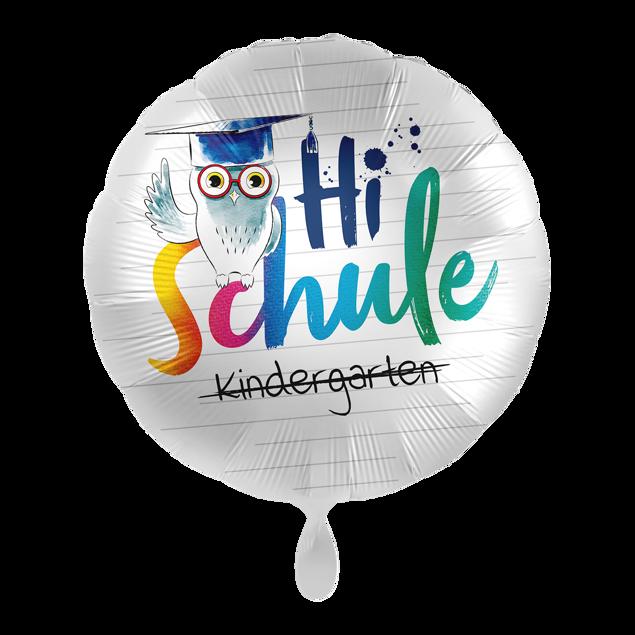 """Bild von Folienballon """"Hi Schule"""" Eule"""