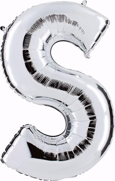 Bild von Folienballon S Silber Buchstabe XXL