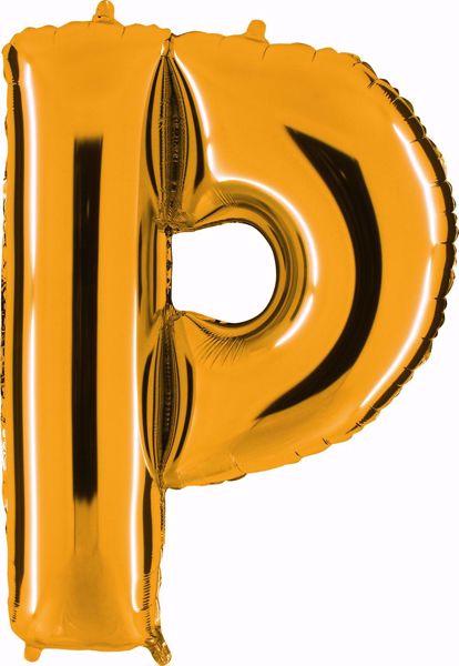 Picture of Folienballon P Altgold Buchstabe XXL
