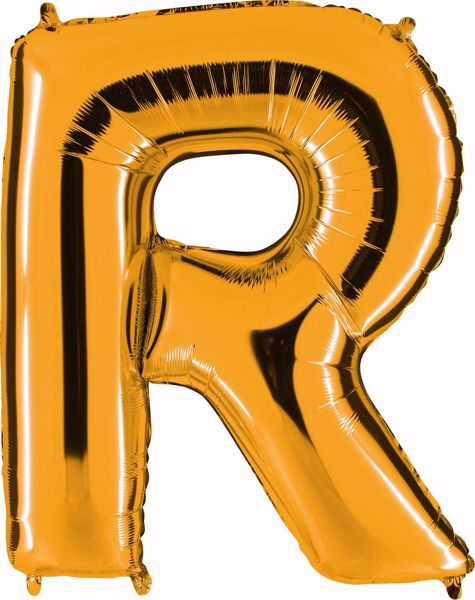 Picture of Folienballon R Altgold Buchstabe XXL