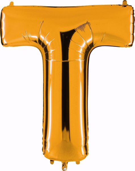 Picture of Folienballon T Altgold Buchstabe XXL