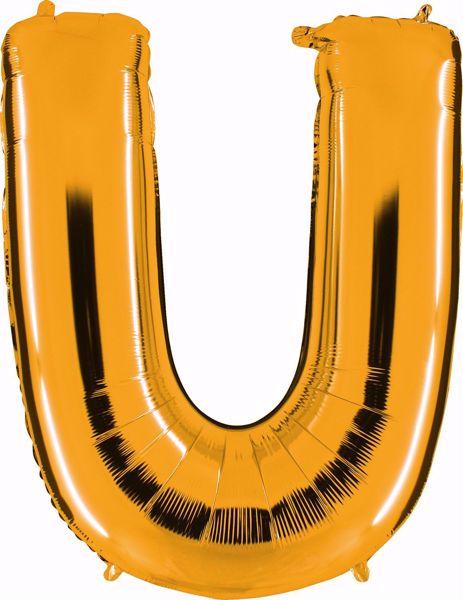 Bild von Folienballon U Altgold Buchstabe XXL