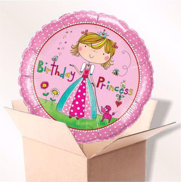 Picture of Folienballon Birthday Princess im Karton