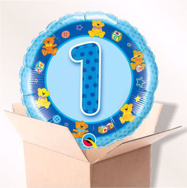 Picture of Folienballon Alter 1 blau im Karton