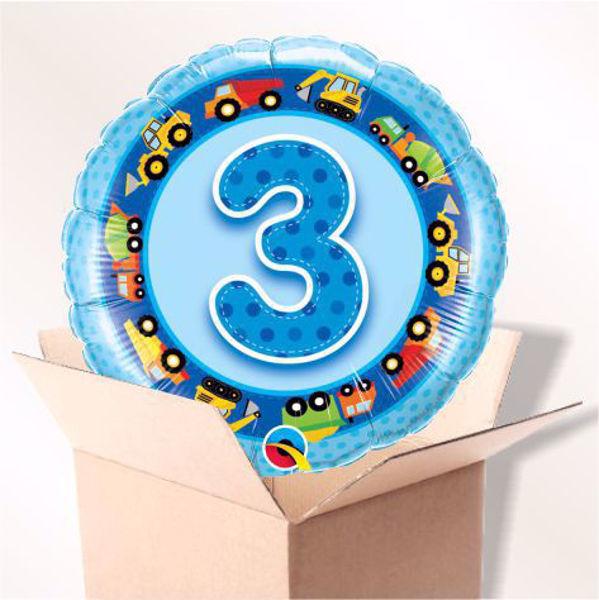 Picture of Folienballon Alter 3 blau im Karton
