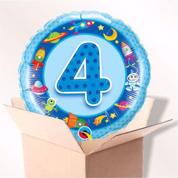 Picture of Folienballon Alter 4 blau im Karton