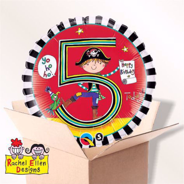 Picture of Folienballon Alter 5 Pirat im Karton