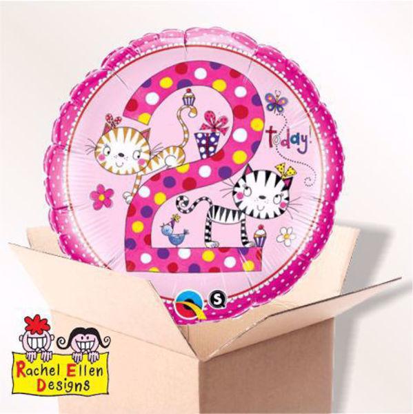 Picture of Folienballon Alter 2 Katzen im Karton