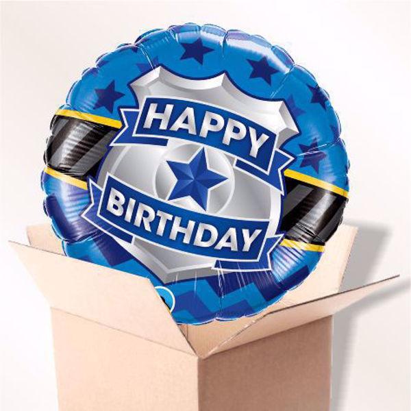 Picture of Folienballon Happy Birthday Abzeichen im Karton