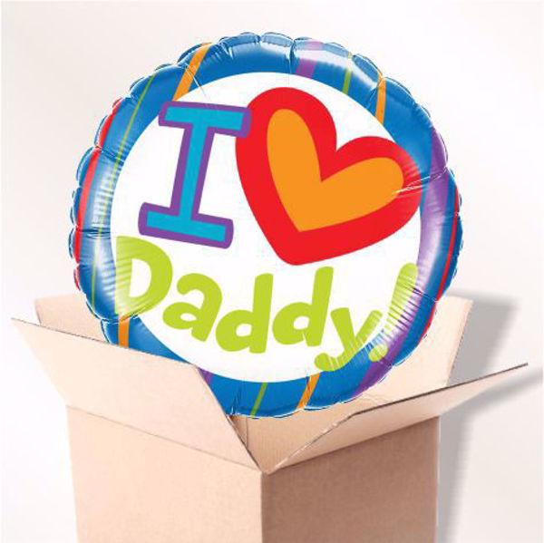 Picture of Folienballon i ♥ daddy im karton