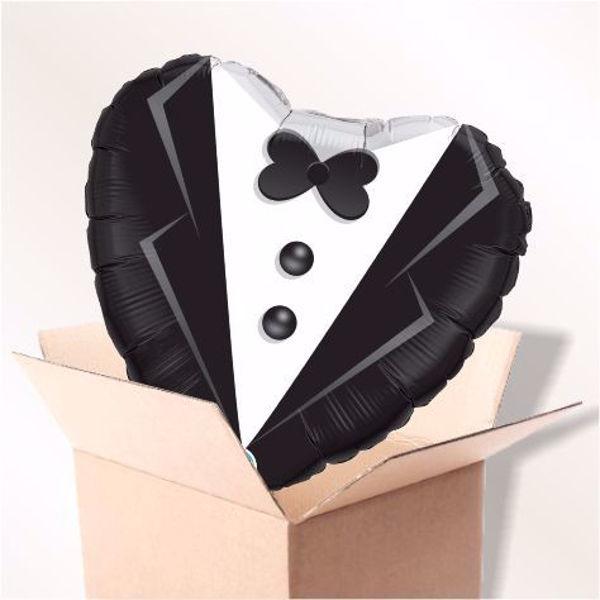 Picture of Folienballon Wedding Tuxedo im Karton