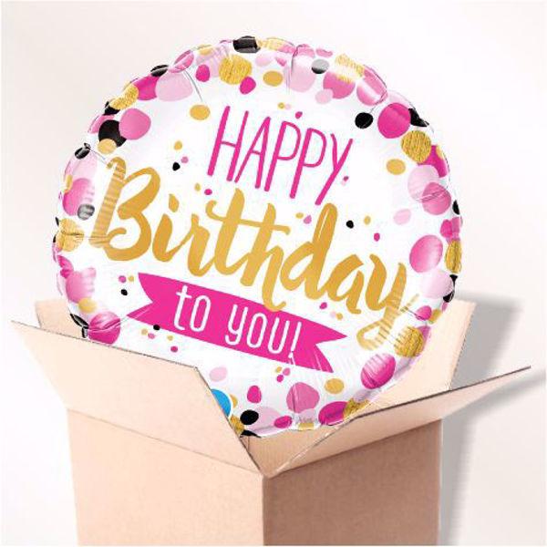 Picture of Folienballon Happy Birthday to You im Karton
