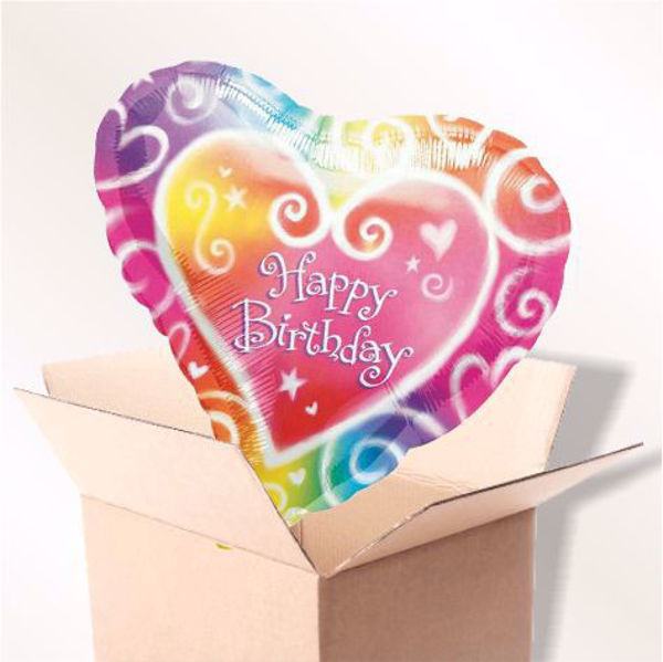 Picture of Folienballon Happy Birthday Herz im Karton