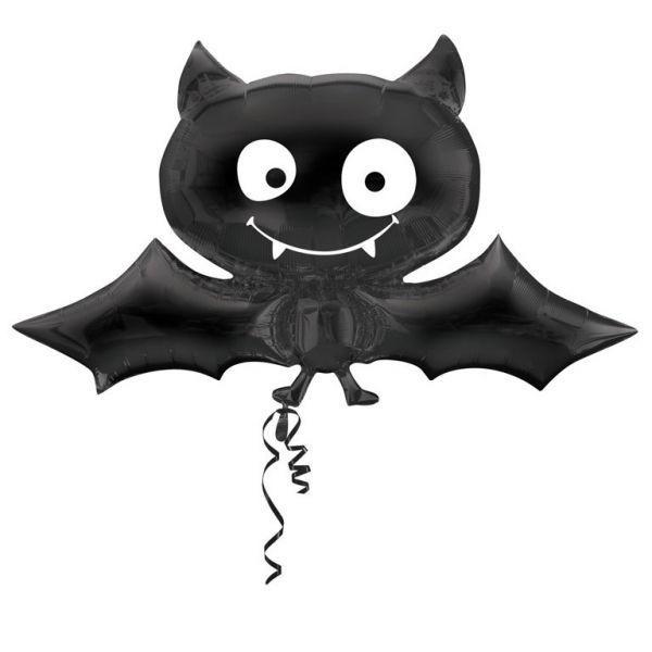 Bild von Folienballon SuperShape schwarze Fledermaus