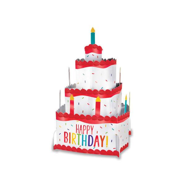 """Picture of Rainbow Pop-Up Torte Karton """"Happy Birthday"""""""