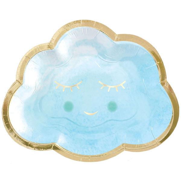 Bild von 8 Pappteller Oh Baby Boy Wolke