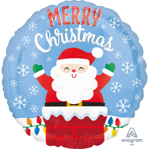 "Picture of Folienballon Weihnachtsmann im Kamin ""Merry Christmas"""