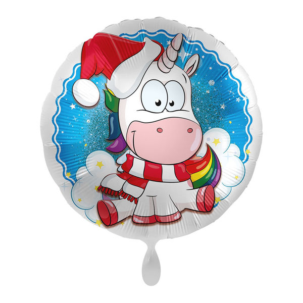 Picture of Folienballon Einhorn Weihnachten