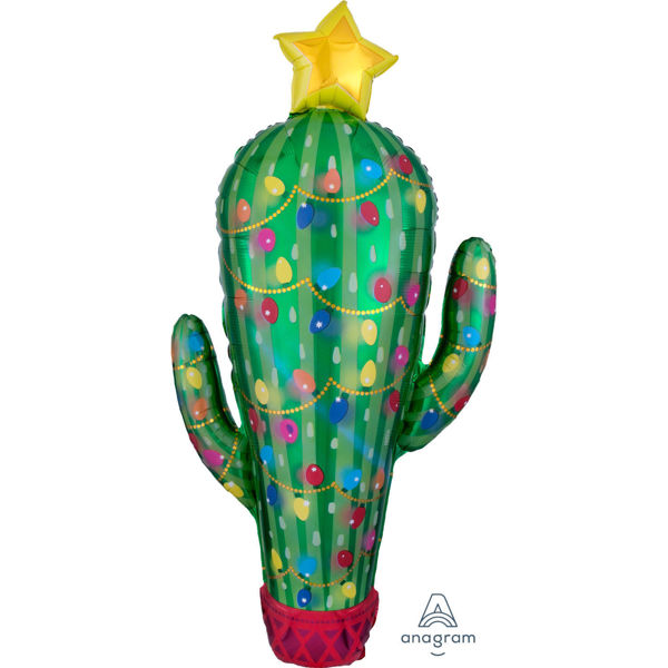 Picture of Folienballon Supershape Weihnachtskaktus