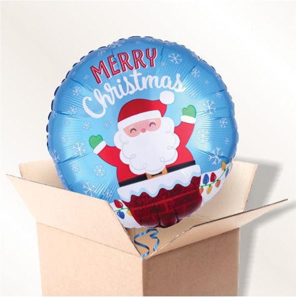 Picture of Folienballon Weihnachtsmann im Kamin im Karton
