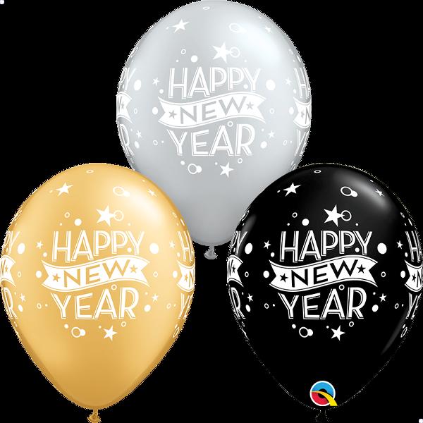 "Picture of Latexballon ""NEW YEAR CONFETTI DOTS"" 11 inch"