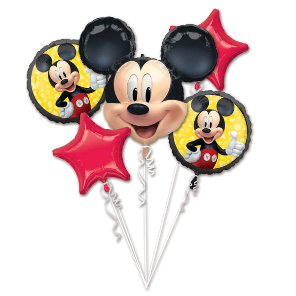 Picture of Folienballon Bouquet Set Mickey Mouse Geburtstag