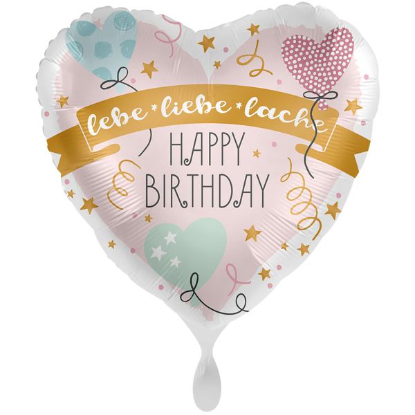 """Picture of Folienballon 28"""" Happy Birthday lebe liebe lache"""