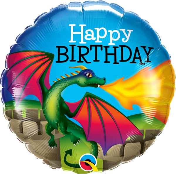 Picture of BIRTHDAY MYTHICAL DRAGON Folienballon 18""