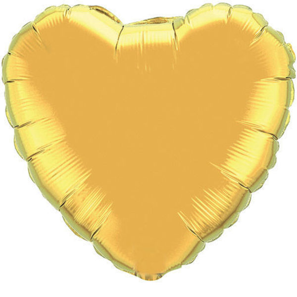 Picture of Folienballon Herz 45cm  Gold