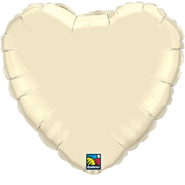 Picture of Folienballon Herz 90cm Pearl Ivory