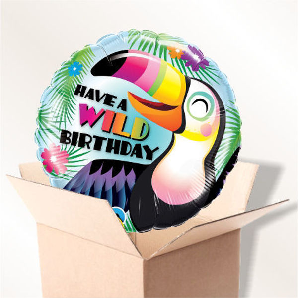 "Picture of Folienballon ""Have a wild Birthday"" im Karton"